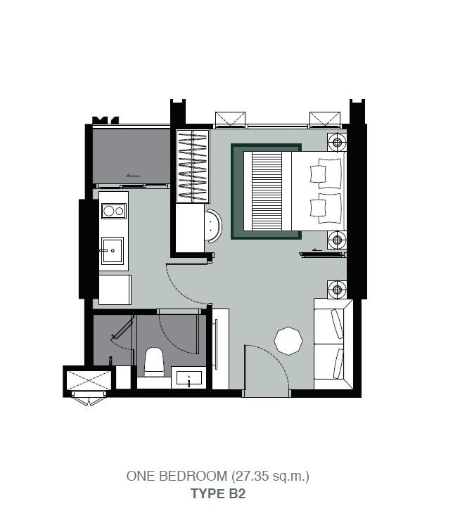 รูปของประกาศขายคอนโดวิสซ์ดอม สเตชั่น รัชดา-ท่าพระ(1 ห้องนอน)(3)