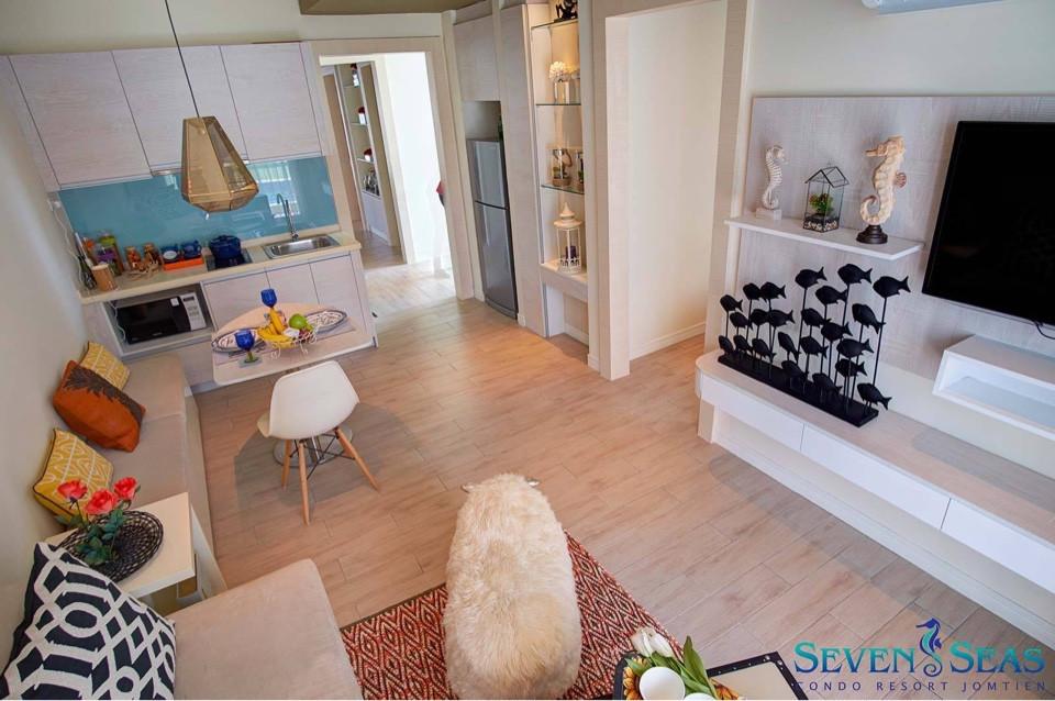 รูปของประกาศขายคอนโดSeven Sea Condo Resort Jomtien(1 ห้องนอน)(3)
