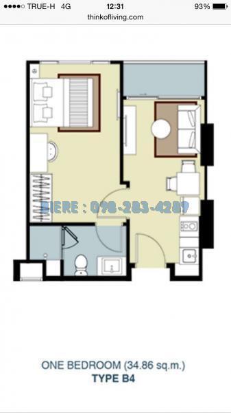 รูปของประกาศขายคอนโดWhizdom Avenue รัชดา-ลาดพร้าว(1 ห้องนอน)(4)