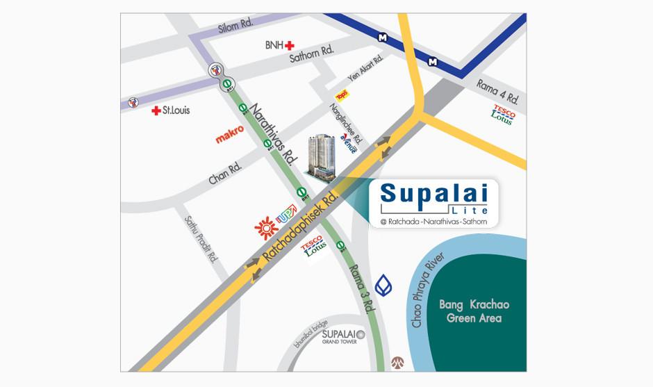 รูปของประกาศขายดาวน์คอนโดSupalai Lite รัชดาฯ-นราธิวาส-สาทร(1 ห้องนอน)(4)