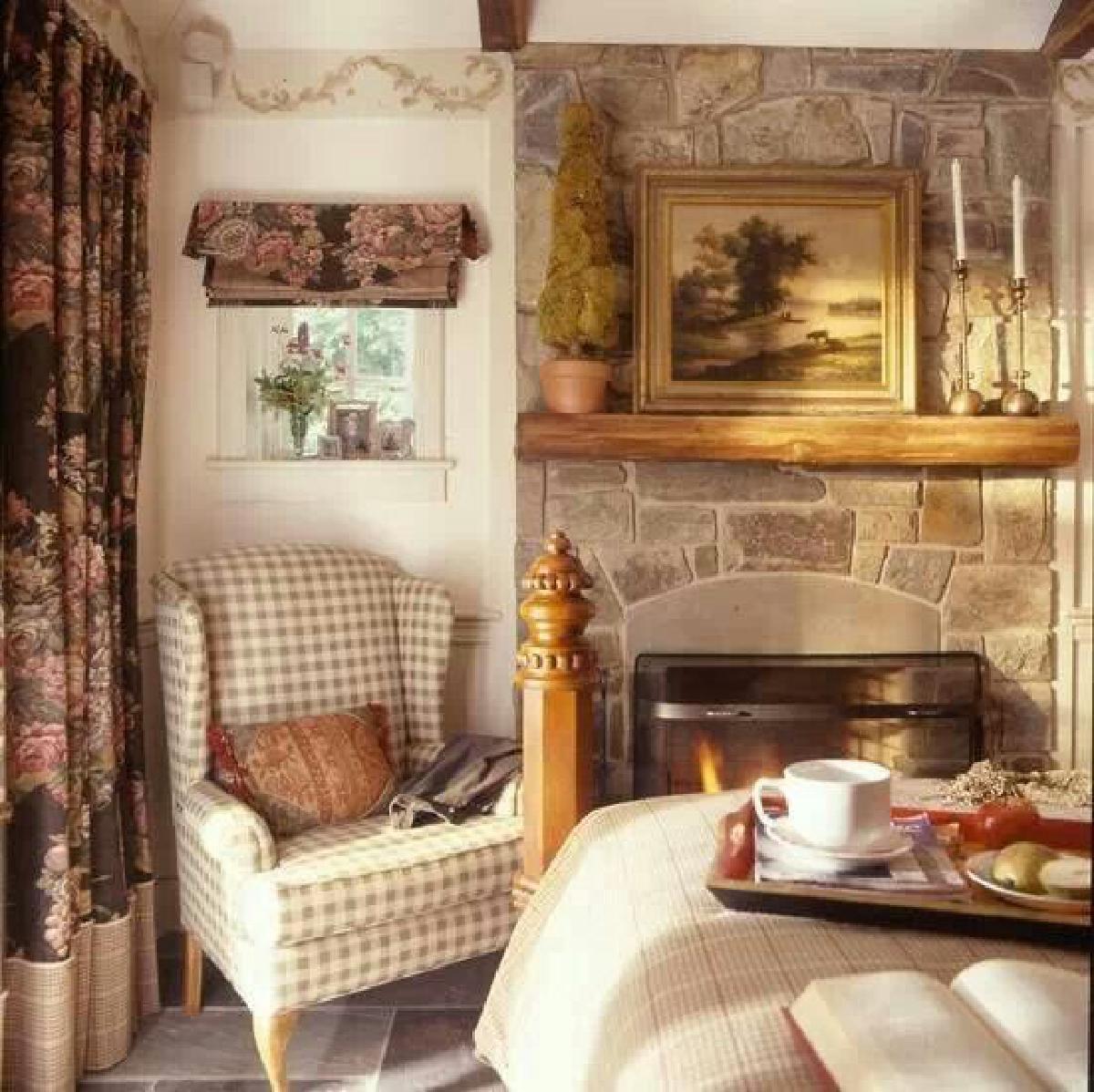 มุมนั่งเล่นสไตล์ english cottage