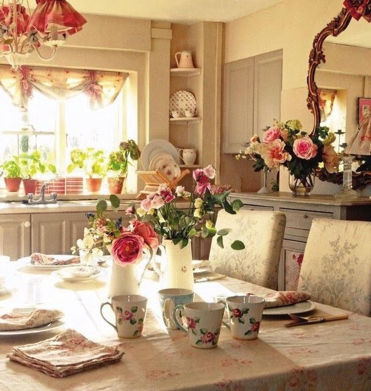 โต๊ะรับประทานอาหารสไตล์ห้องนอนสไตล์ english cottage