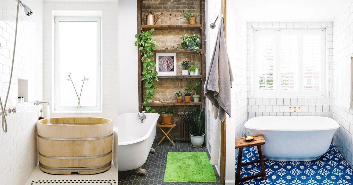รูปบทความ 25 ไอเดียแต่งห้องน้ำคอนโด สำหรับคนที่รักอ่างอาบน้ำ แต่มีพื้นที่เล็กๆ