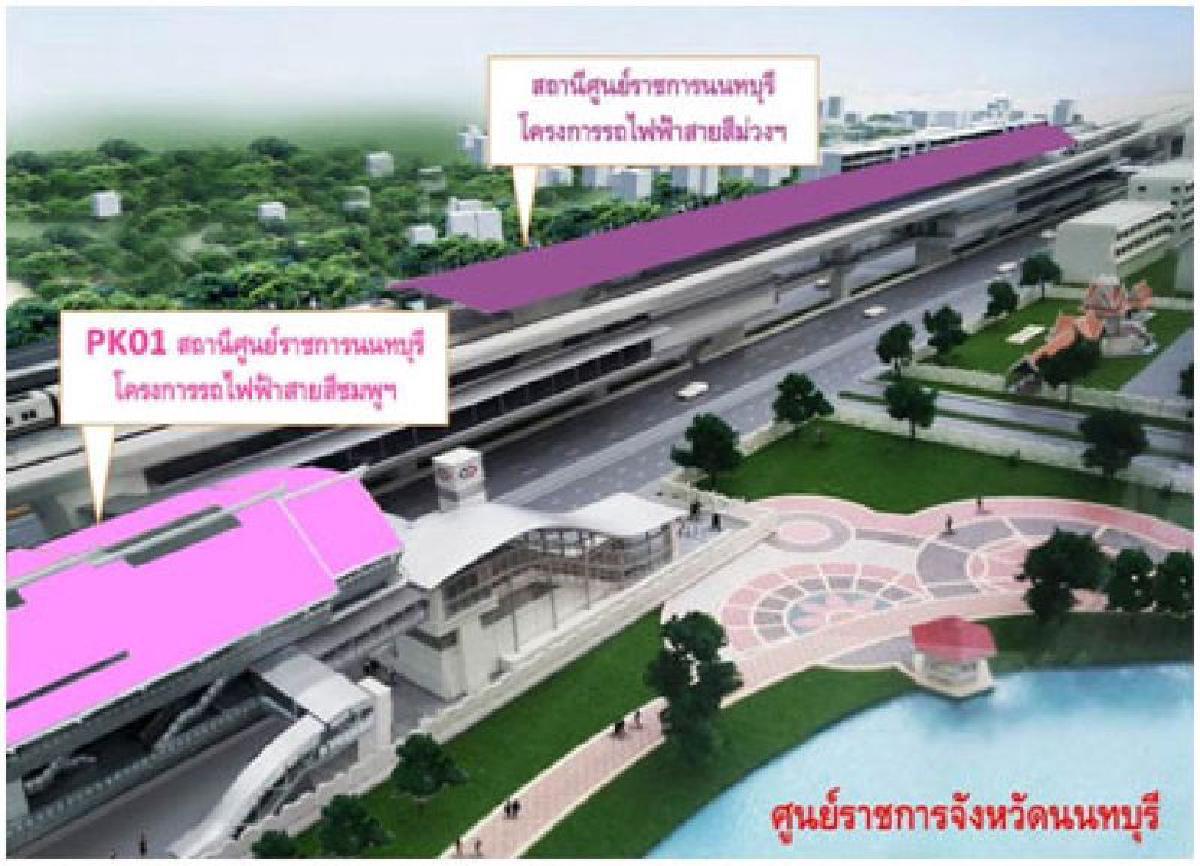 ภาพจากบทความเปิดหมุดทำเลทอง รถไฟฟ้าสายสีชมพู ความหวังของชาวกรุ