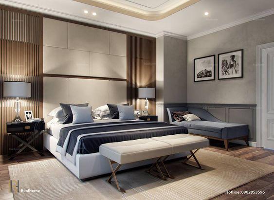 แบบห้องนอนสวยๆ สไตล์ Modern นั้นบางครั้งอยู่ที่การจัดวางแสงไฟให้สว่างทั่วห้องขับเน้นสีของเฟอร์นิเจอร์ให้มีเสน่ห์