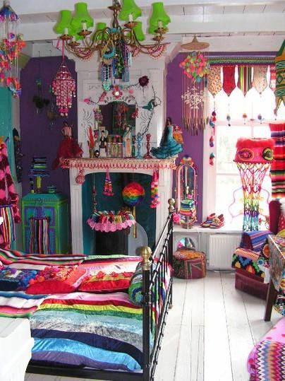 แบบห้องนอนสีชมพู