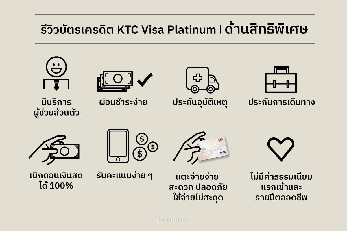 รีวิวบัตรเครดิต KTC Visa Platinum สมัครดีไหม