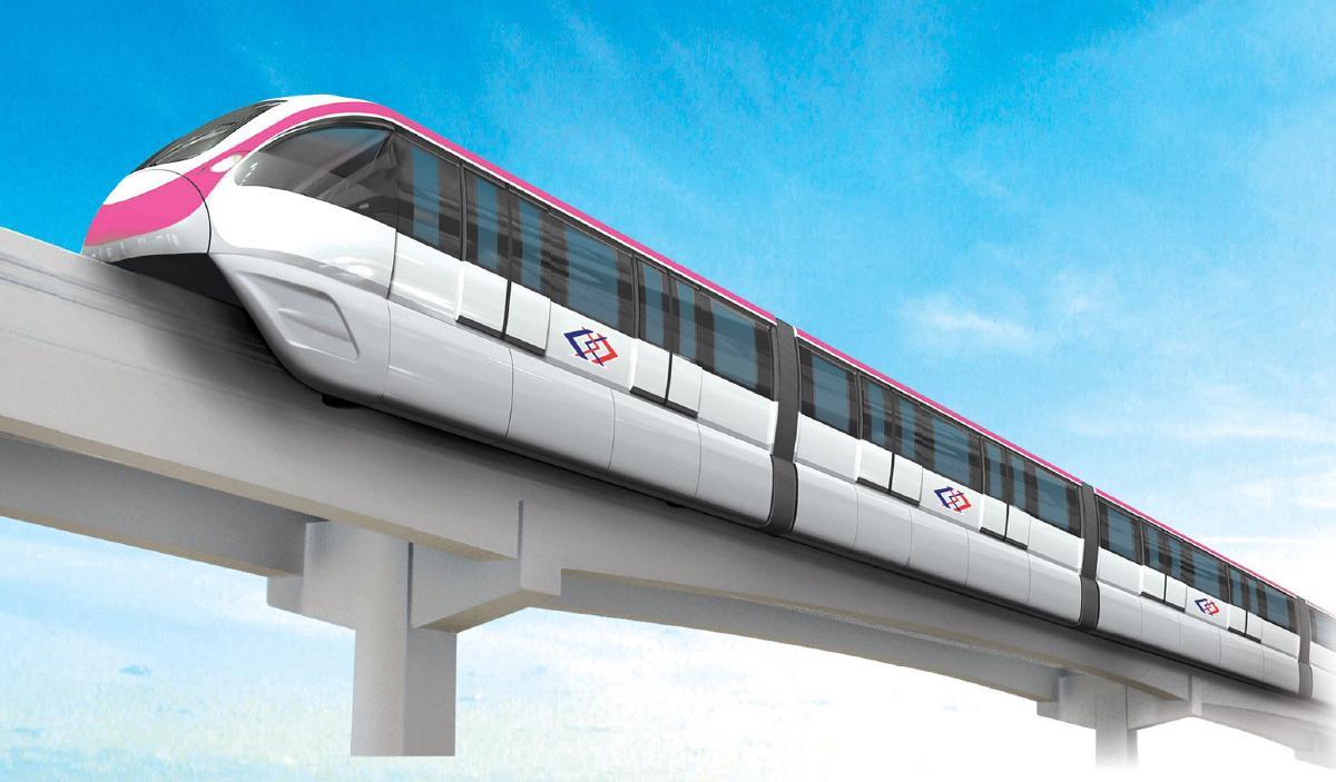 รูปบทความ อัพเดท รถไฟฟ้าสายสีชมพู 2563 เปิดใช้งานเมื่อไร