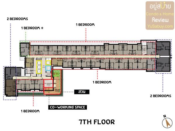 รูปของประกาศขายดาวน์คอนโดThe Tree สุขุมวิท 71 – เอกมัย(1 ห้องนอน)(3)