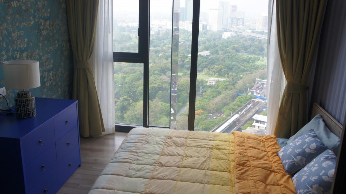 """ประกาศ[For rent/ให้เช่า] The Line Jatujak-Mochit 27th flr, 1 bedroom 6"""" bed /Jatujak Park View / Fully Furnished"""