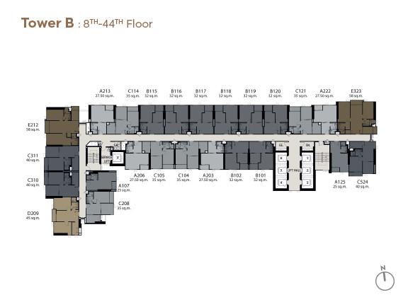 รูปของประกาศขายคอนโดไลฟ์ อโศก-พระราม 9(1 ห้องนอน)(3)