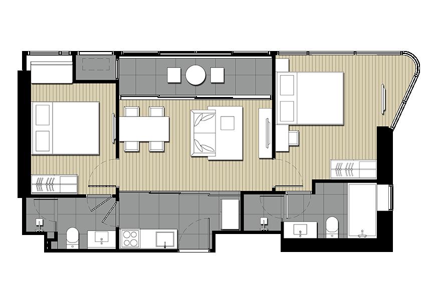 รูปของประกาศขายดาวน์คอนโดไอดีโอ โมบิ อโศก(2 ห้องนอน)(4)