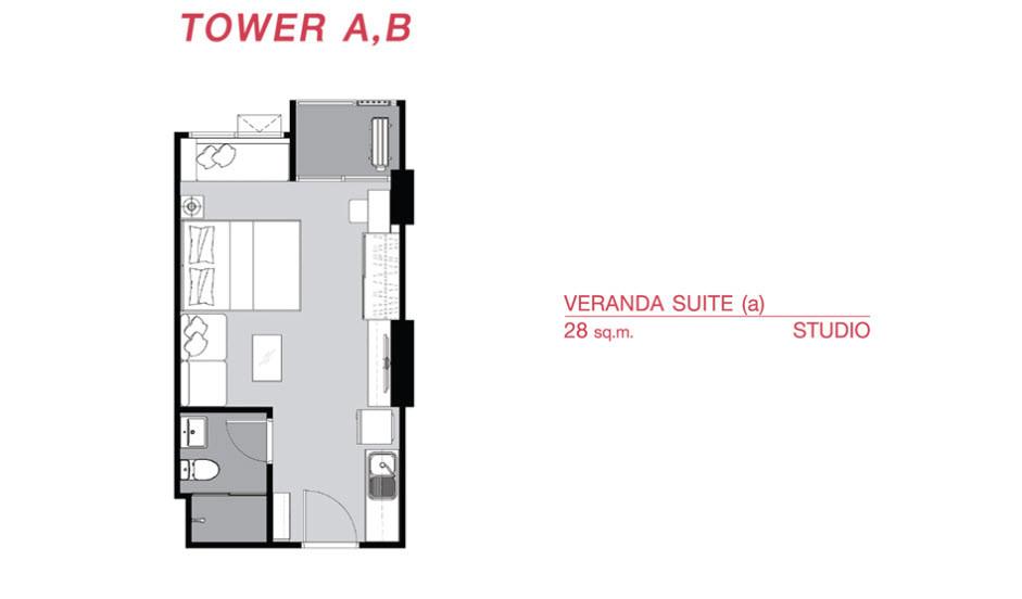รูปของประกาศขายคอนโดศุภาลัย เวอเรนด้า รามคำแหง(1 ห้องนอน)(3)