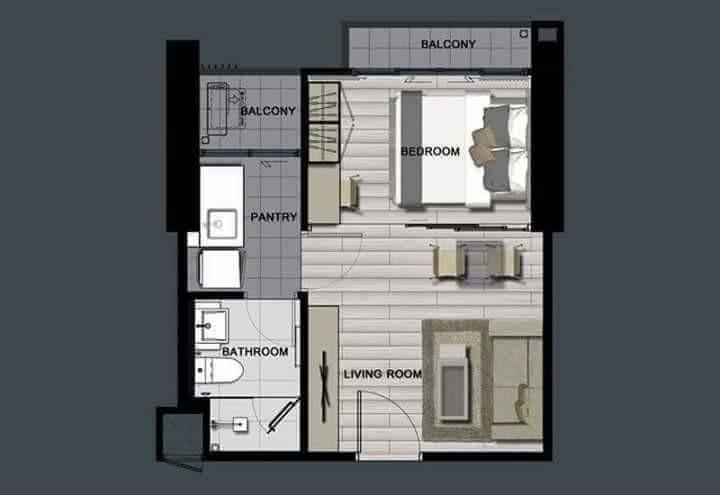 รูปของประกาศขายดาวน์คอนโดเดอะ โพลิแทน รีฟ(1 ห้องนอน)(3)