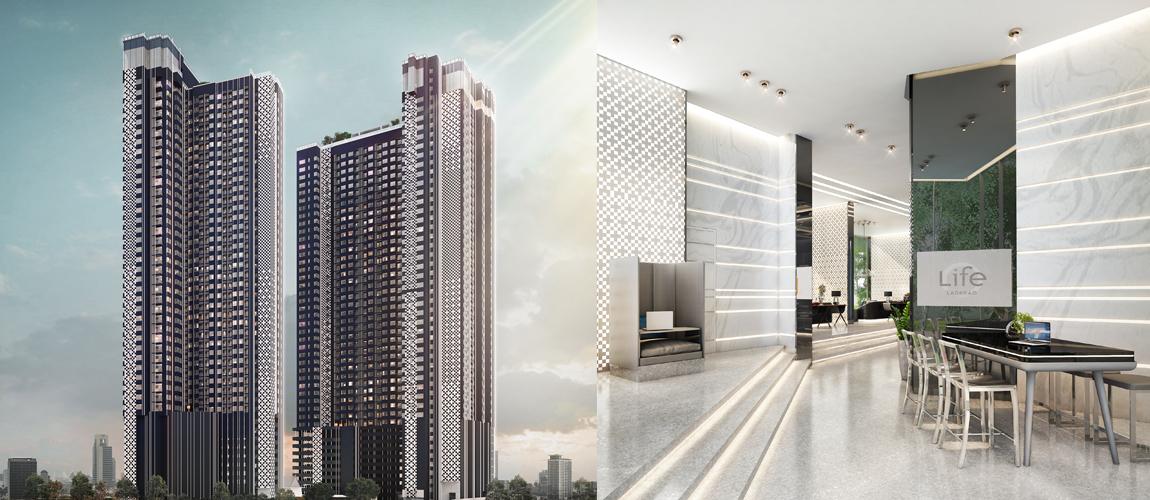 ประกาศขายดาวน์คอนโด ไลฟ์ ลาดพร้าว [Life Ladprao] ใกล้ Central ลาดพร้าว 1 ห้องนอน 35 ตร.ม. Tower A