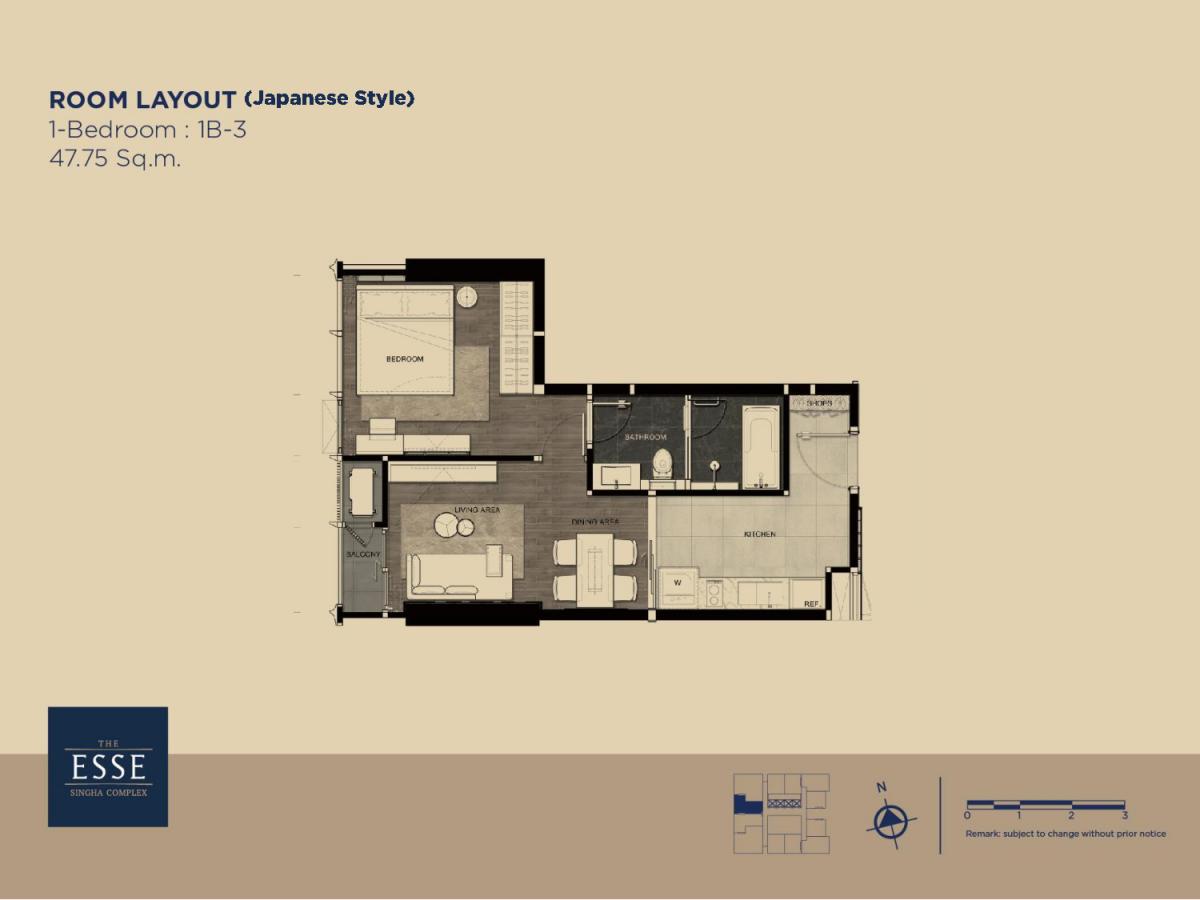 รูปของประกาศขายคอนโดดิ เอส แอท สิงห์ คอมเพล็กซ์ (1 ห้องนอน)(3)
