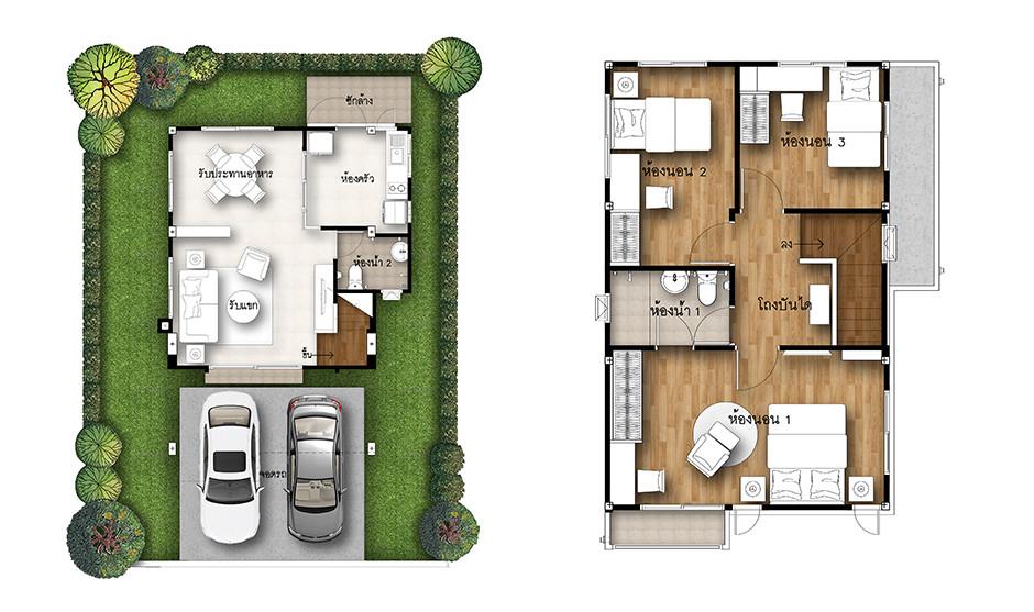 บ้านเดี่ยว บ้านแฝด ทาวน์โฮม ทาวน์เฮ้าส์ Supalai Park Ville แม่กรณ์-เชียงราย รีวิว พรีวิว ที่ตั้ง ทำเล การเดินทาง