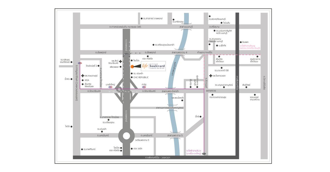 บ้านเดี่ยว บ้านแฝด ทาวน์โฮม ทาวน์เฮ้าส์ Life Bangkok Boulevard ราชพฤกษ์-รัตนาธิเบศร์ รีวิว พรีวิว ที่ตั้ง ทำเล การเดินทาง บ้านพร้อมอยู่ บ้านใหม่ บ้านราคาถูก